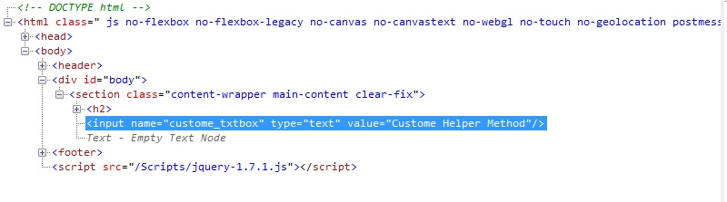 creating custom html helpers c#